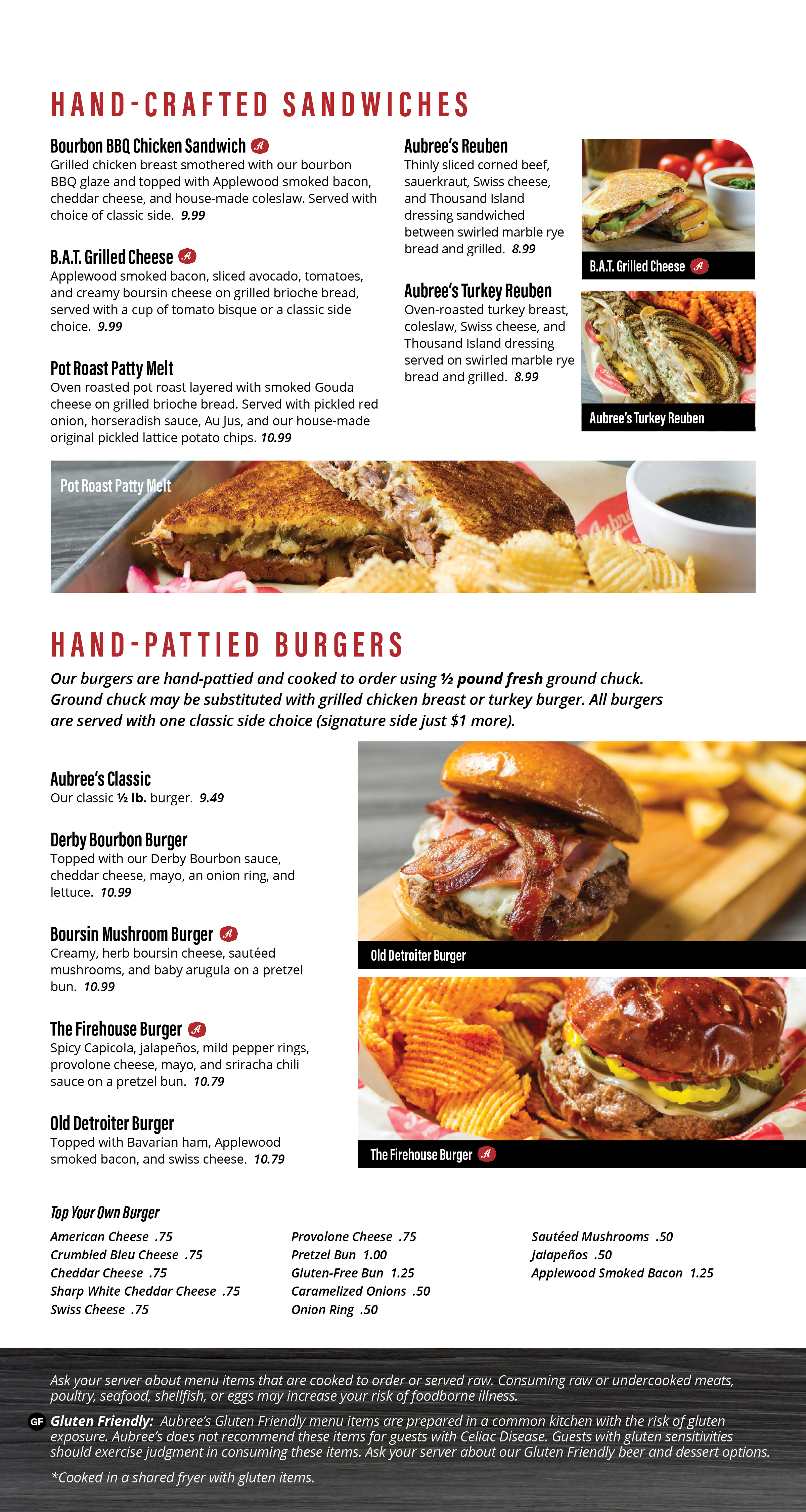 Hand-Crafted Sandwiches & Hand-Pattied Burgers